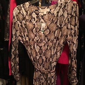 Sexy MK animal print mid drift dress new w tags